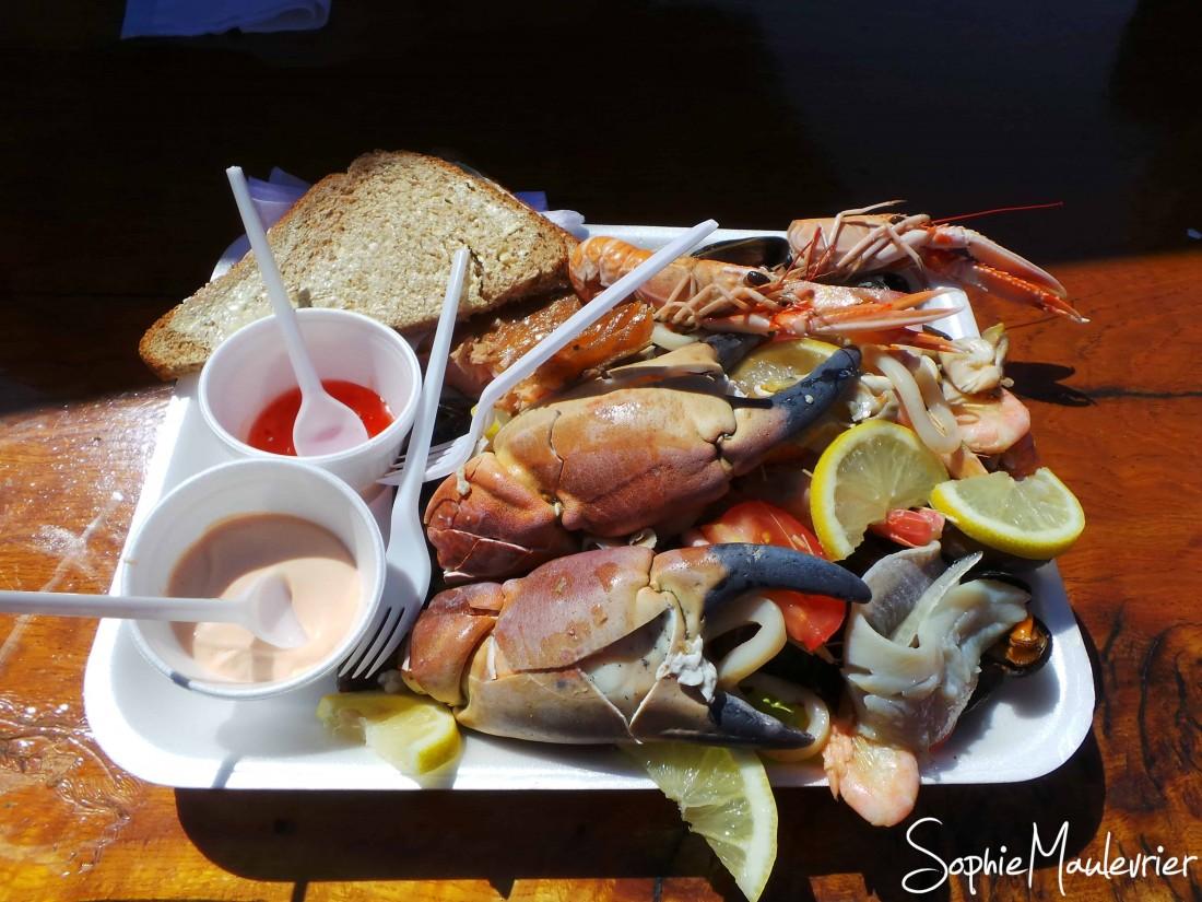 Les plats à manger en Écosse - Définitivement un plateau de fruits de mer !