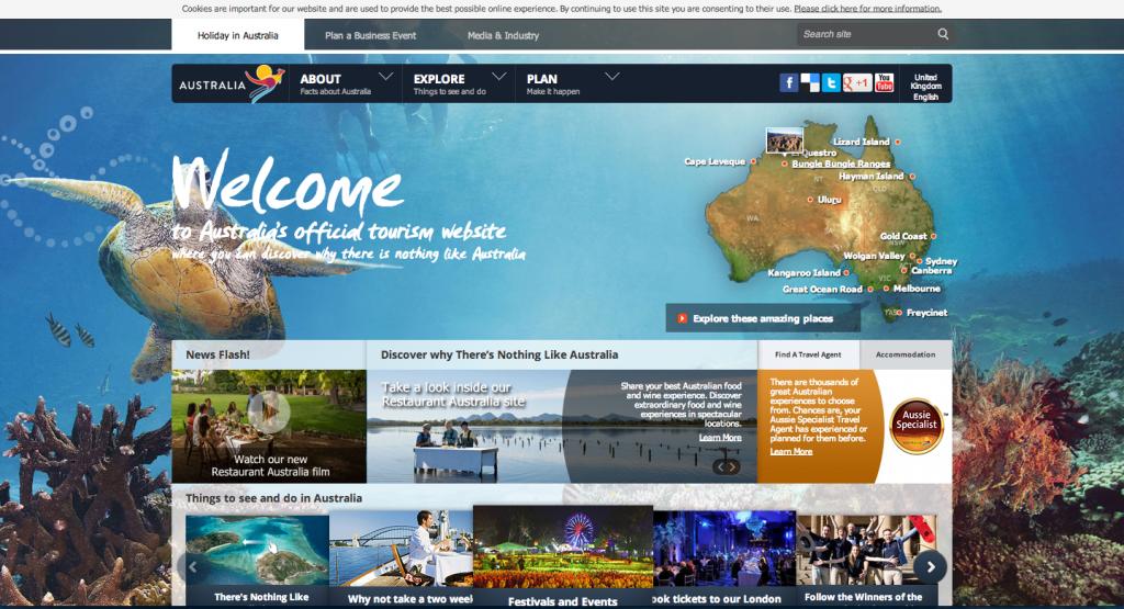 Site touristique de l'Australie