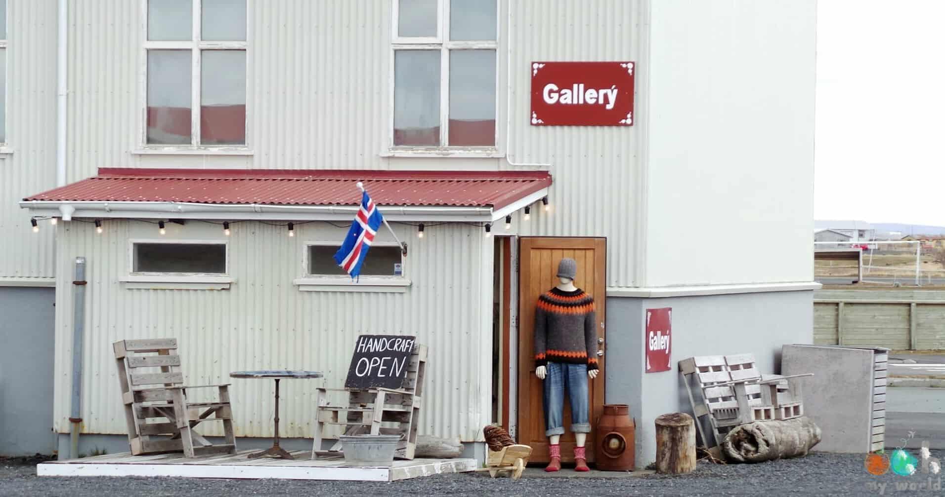 Magasin de souvenirs en Islande