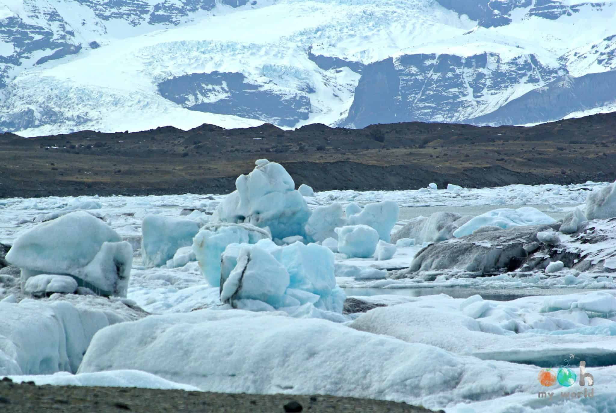 La mer de glaciers en Islande