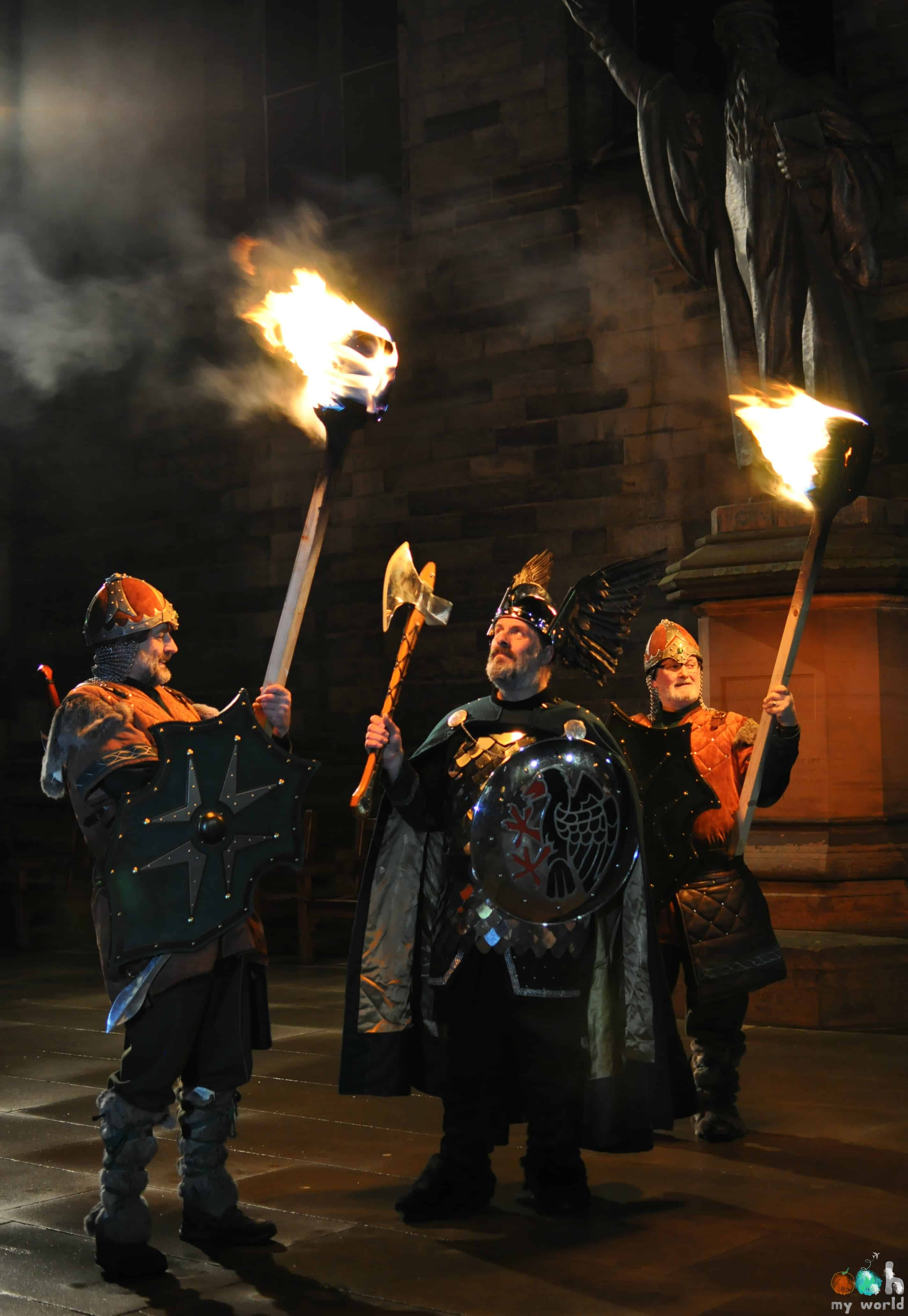 Viking des Shetlands à Edimbourg pour Hogmanay