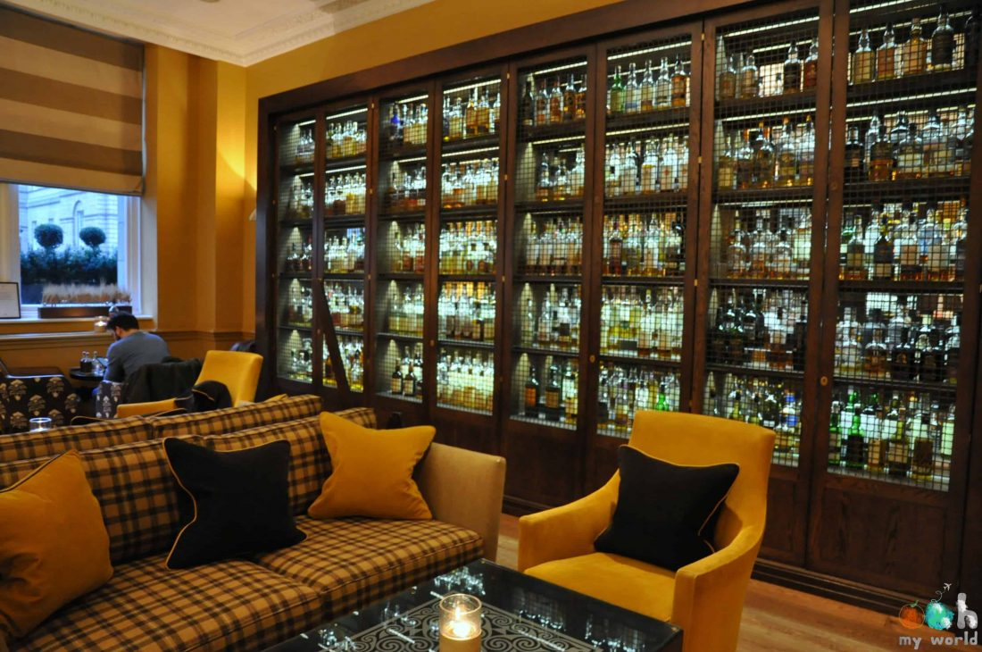 Décor du Scotch Bar à l'hôtel Balmoral
