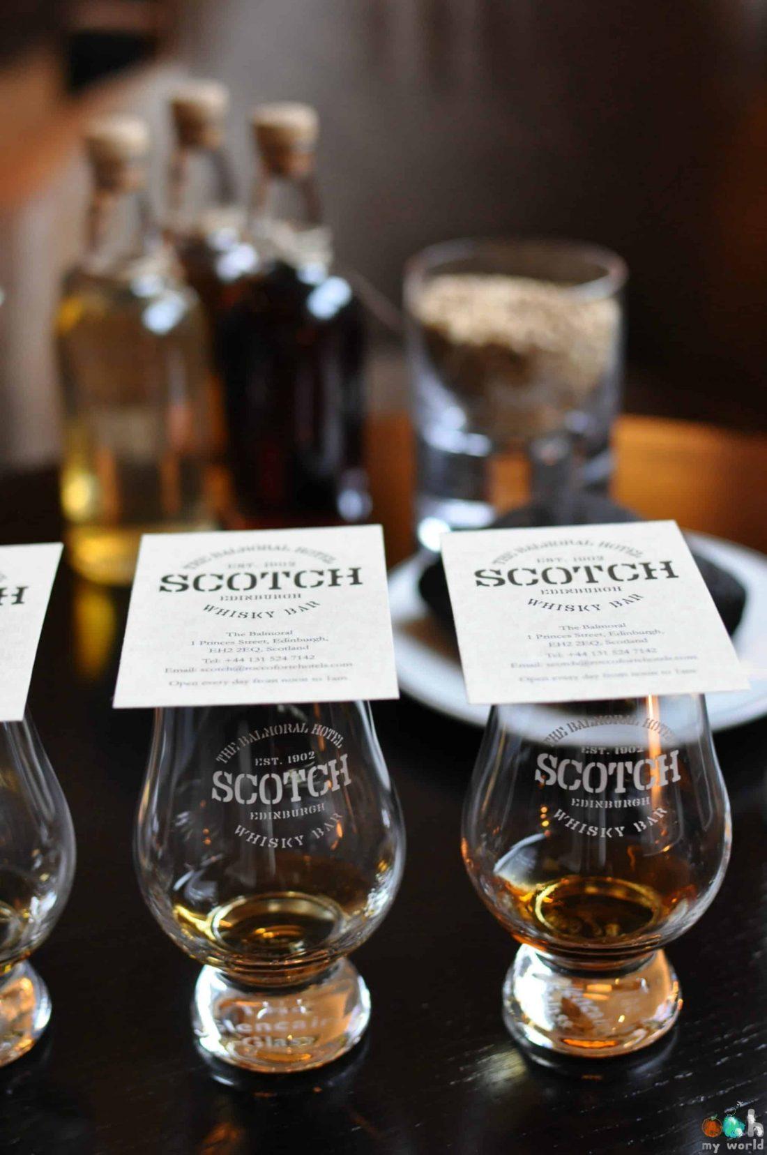 Dégustation de whisky à Edimbourg