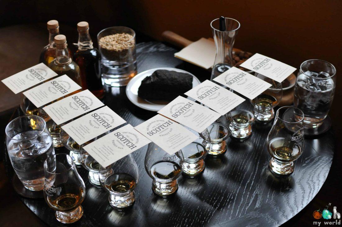 Dégustation de whisky à Edimbourg au Scotch Bar du Balmoral