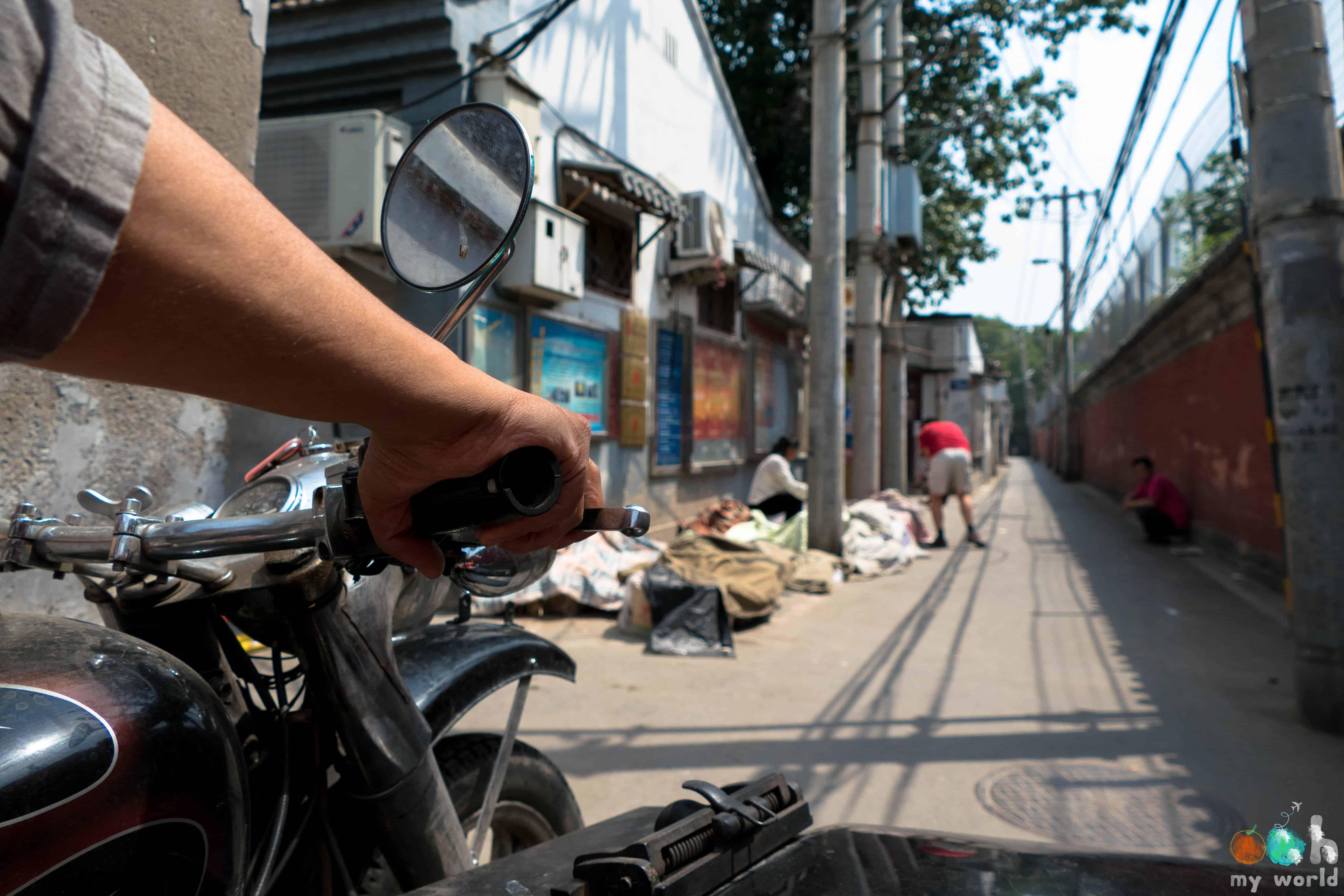 Side car à Pékin Chine