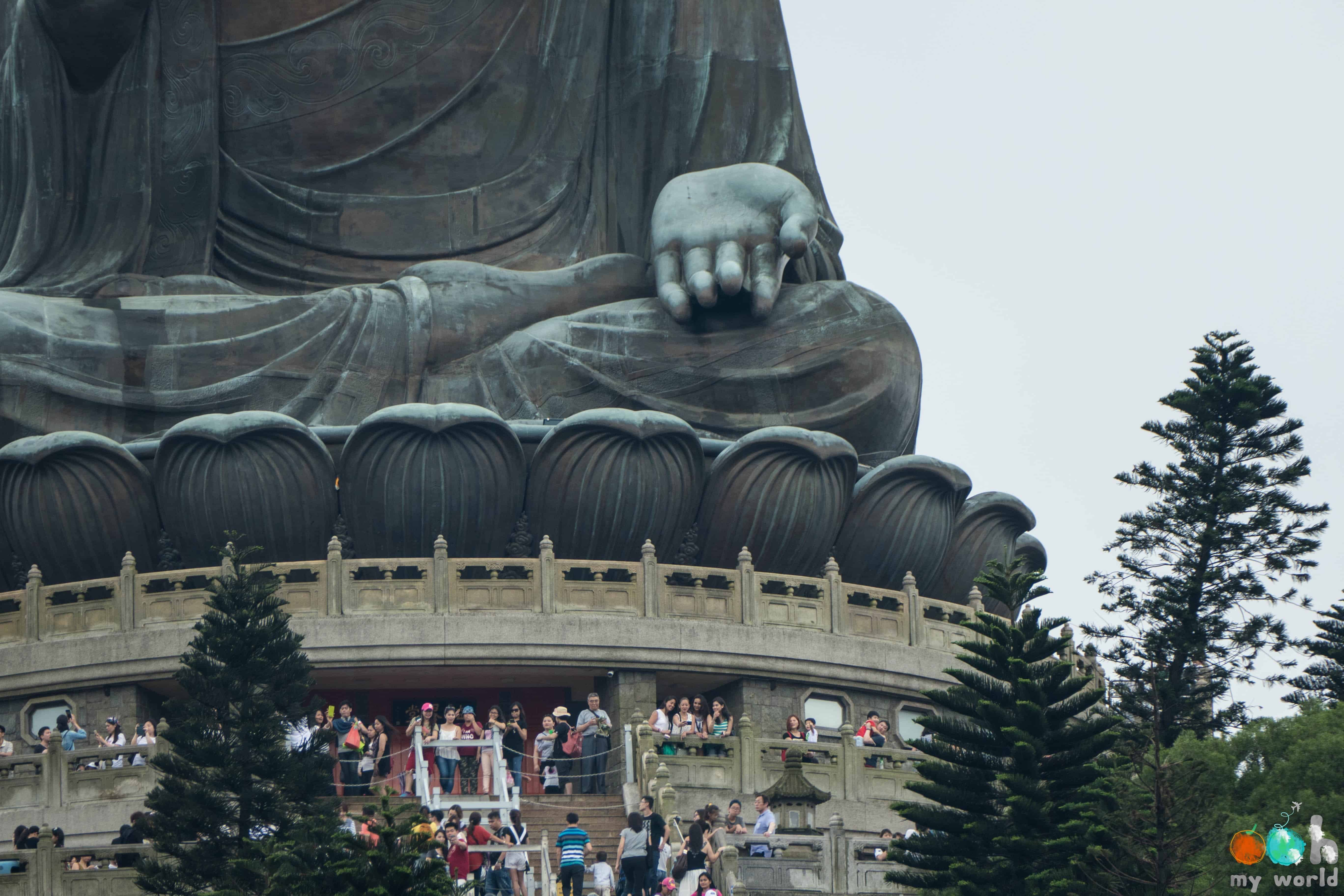 Détail Bouddha géant à Hong Kong