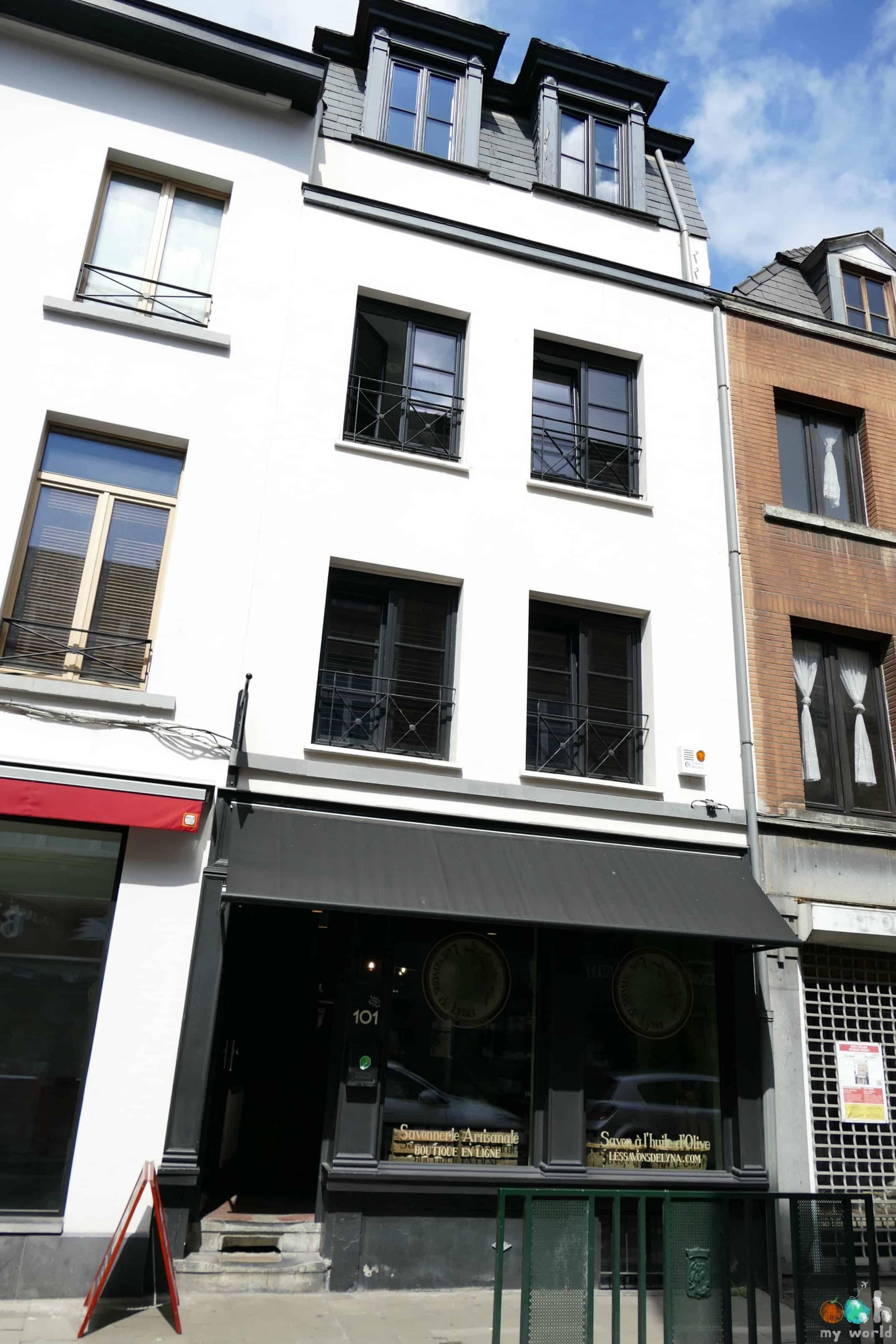 Extérieur du Bed and Breakfast la Maison Haute dans le quartier des Marolles à Bruxelles