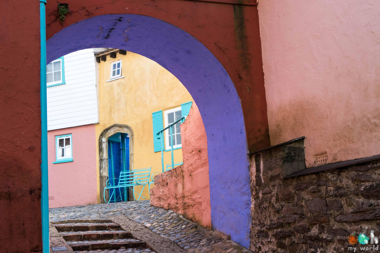 Les maisons colorées de Portmeirion au Pays de Galles