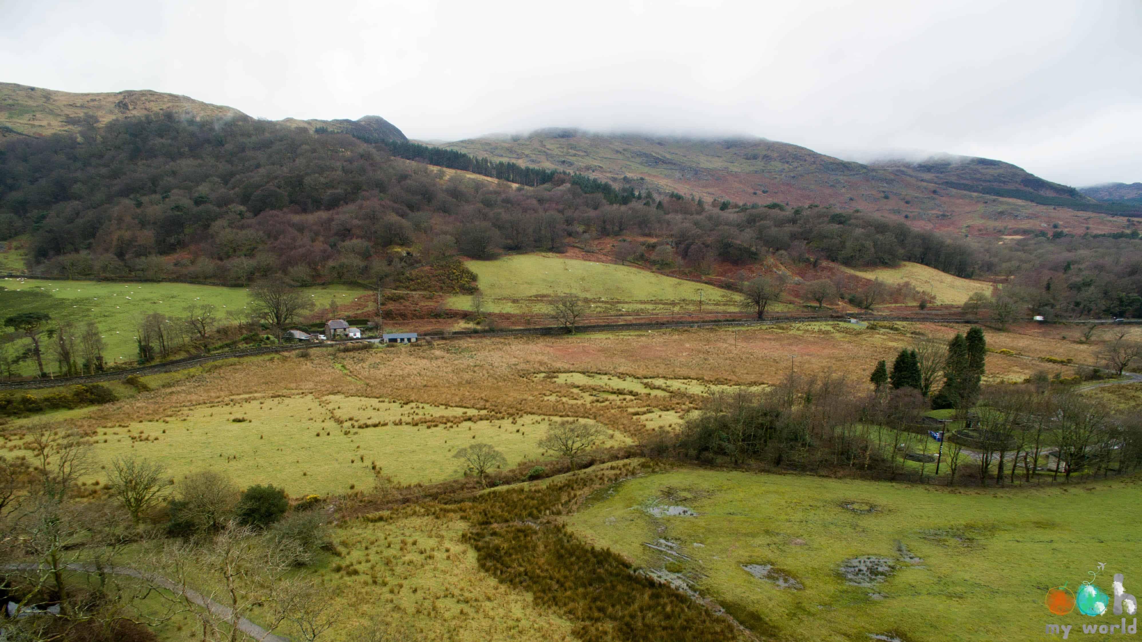 Snowdonia vu du ciel au mois de mars