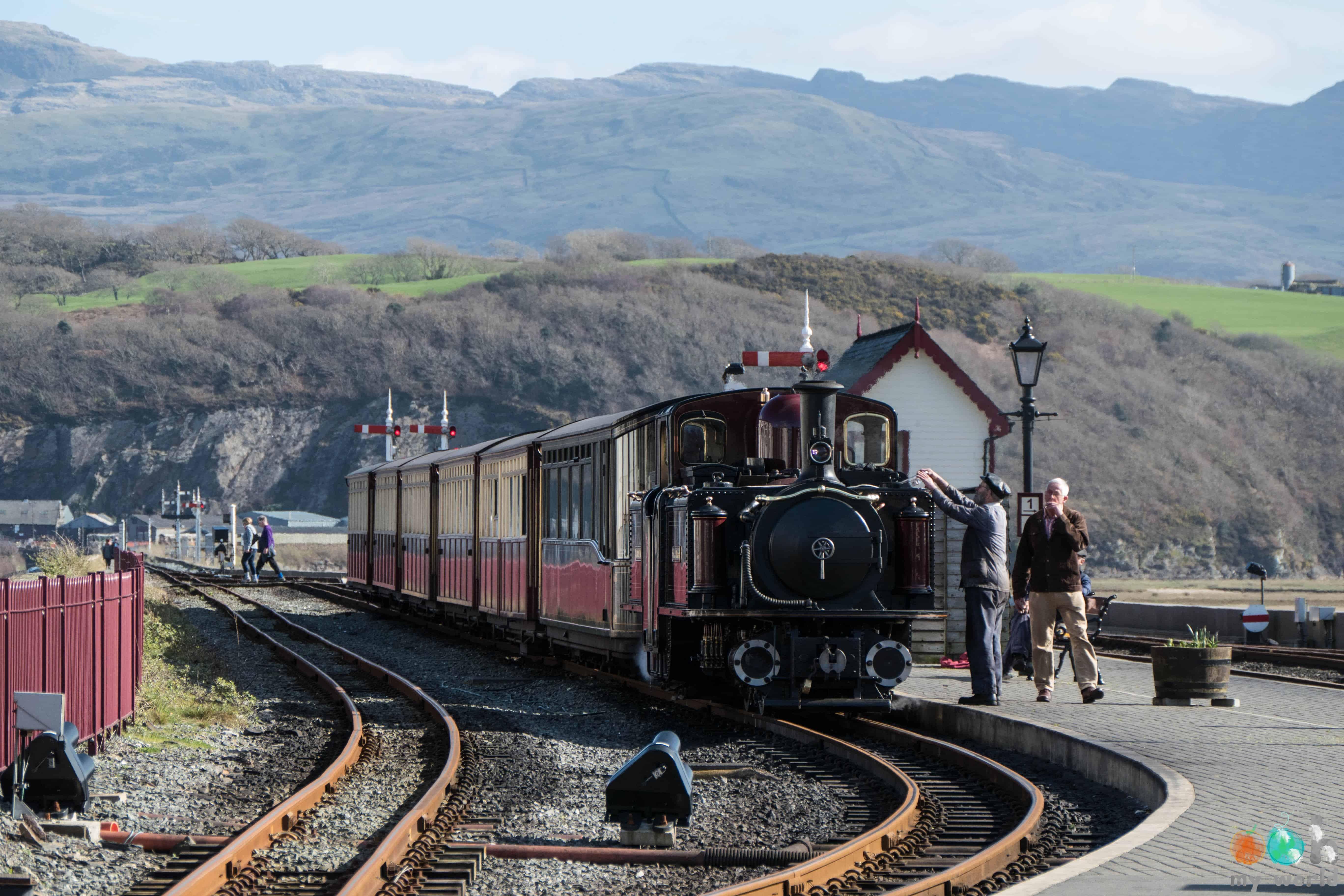 Un petit train à vapeur gallois
