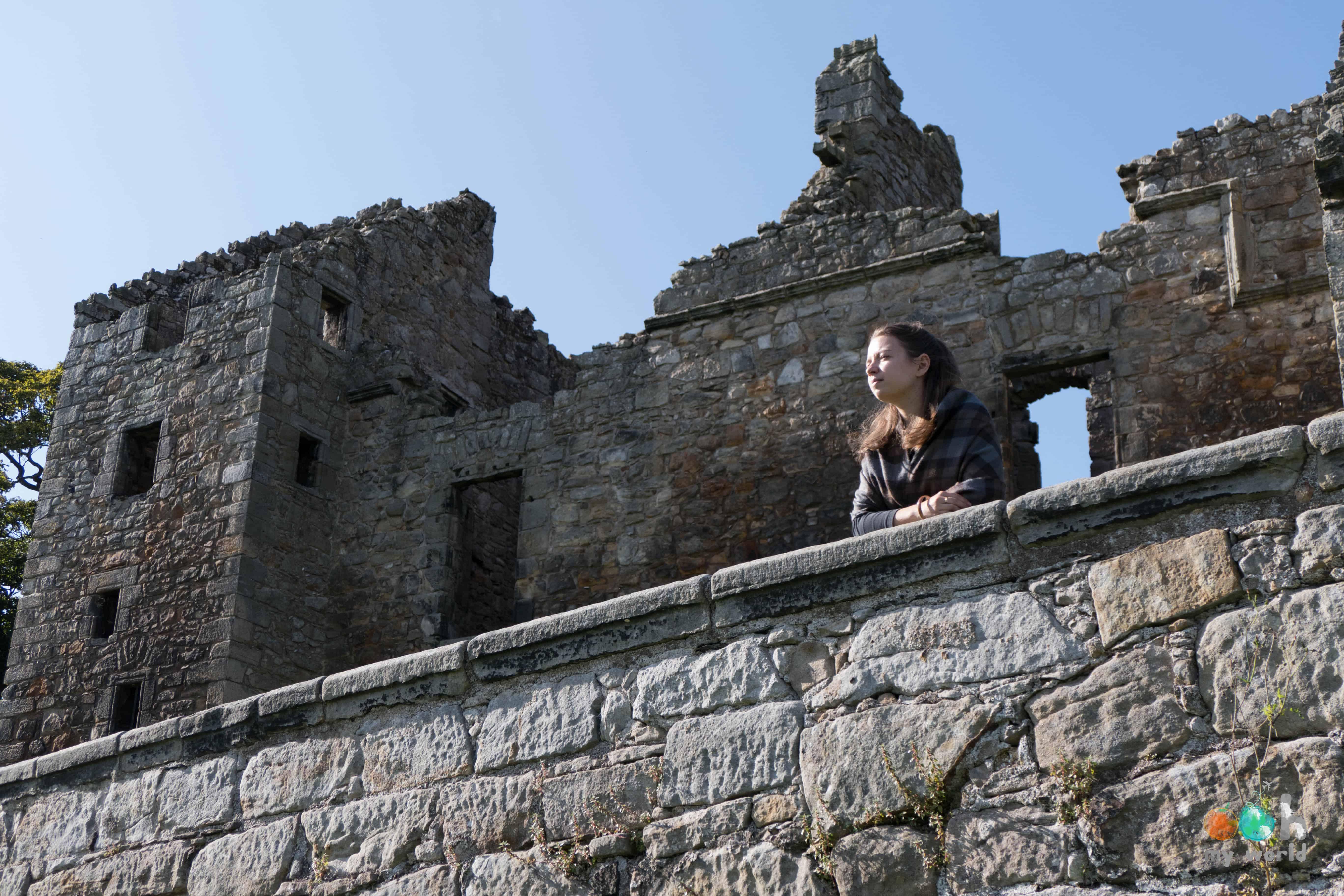 Sophie au château d'Aberlour sur les traces d'Outlander