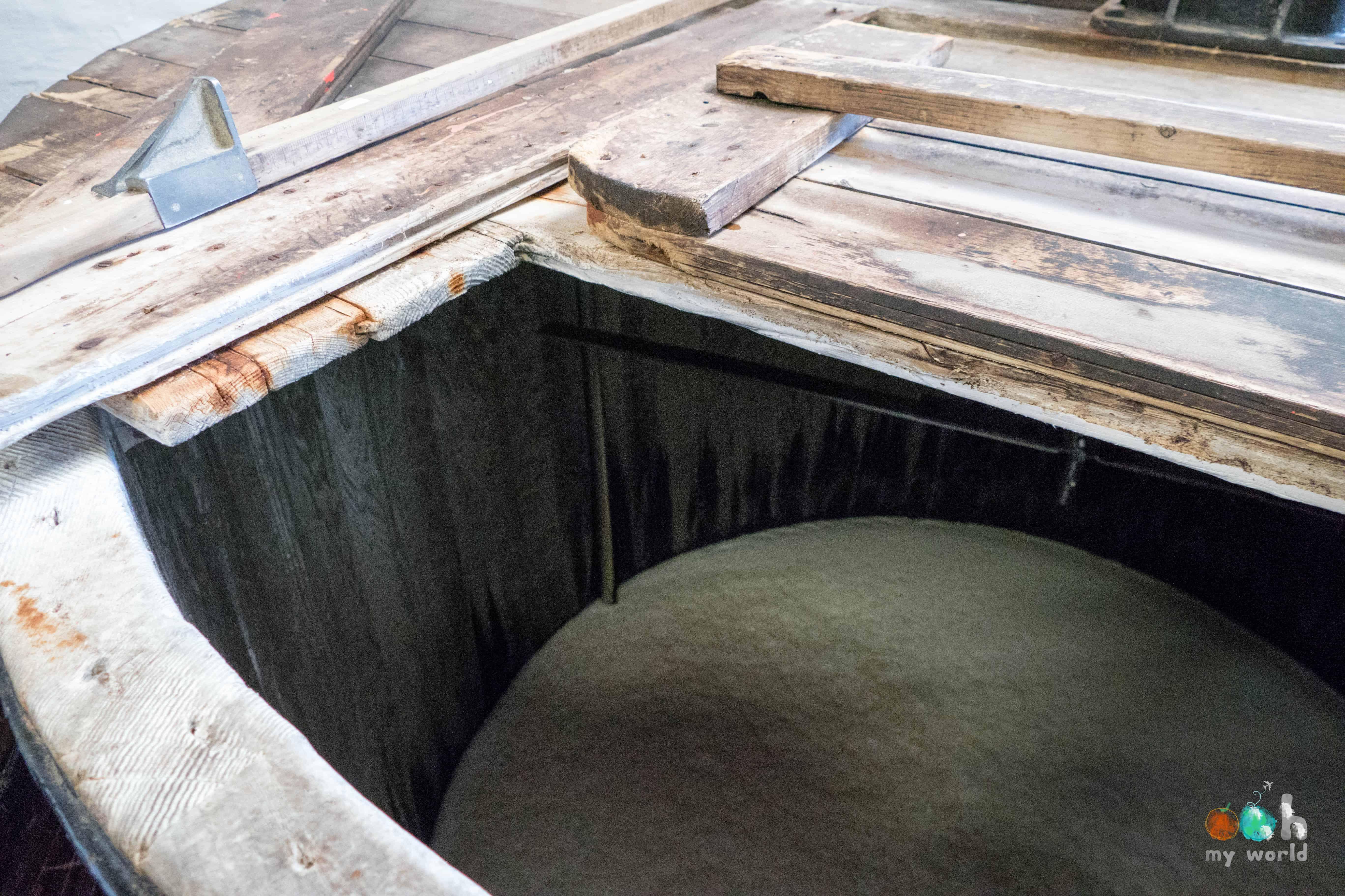 Mash tun de la distillerie d'Edradour