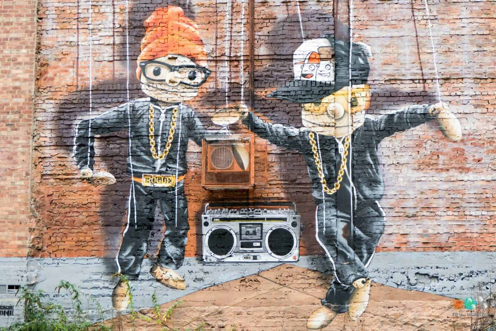 Visite guidée de Glasgow - Découverte d'une fresque de Rogue