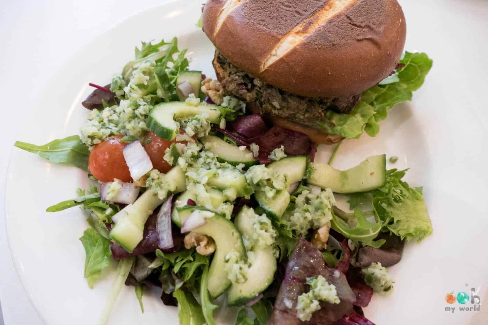 Burger vegan du café picnic à Glasgow