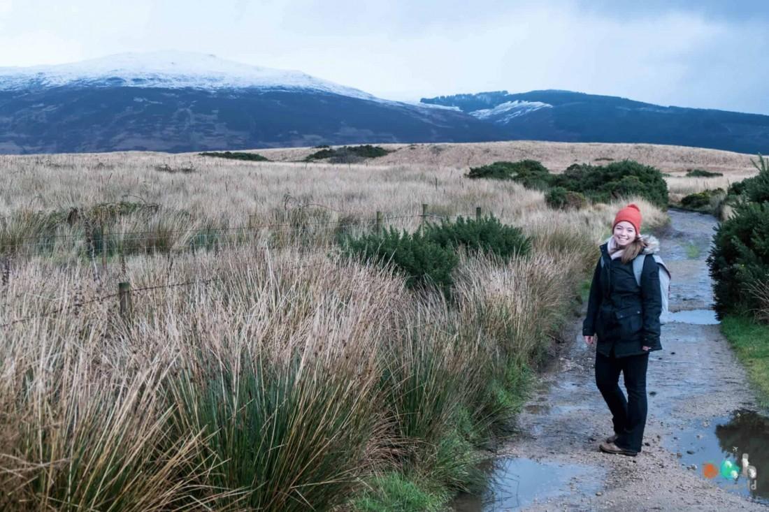 Sophie sur l'île d'Arran en Ecosse