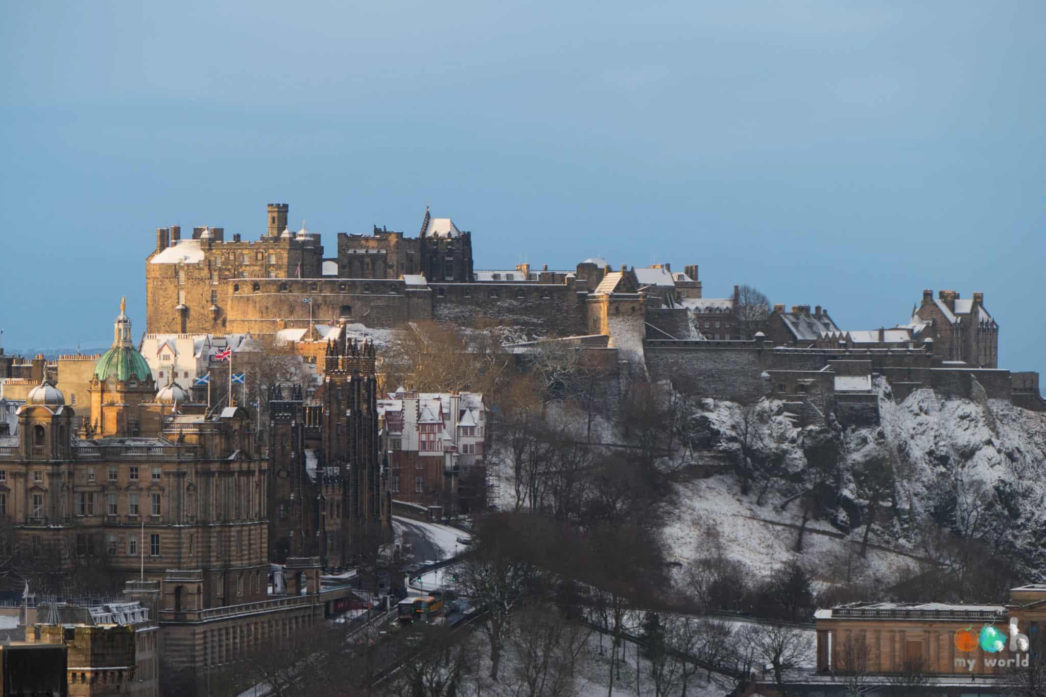 Chateau d'Edimbourg sous la neige