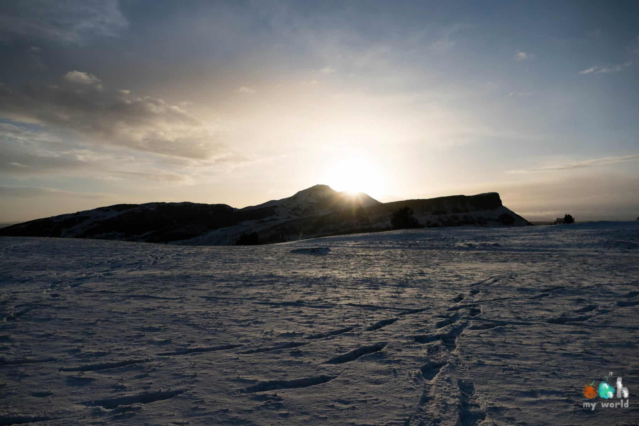 Calton Hill sous la neige en Ecosse
