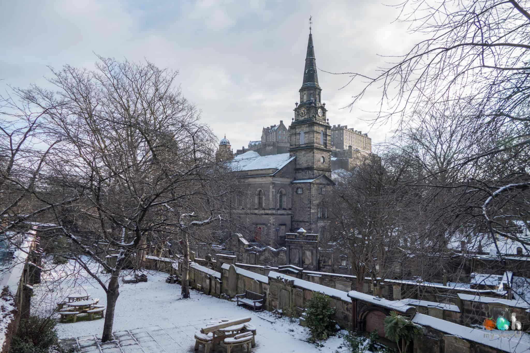 Edimbourg sous la neige en Ecosse