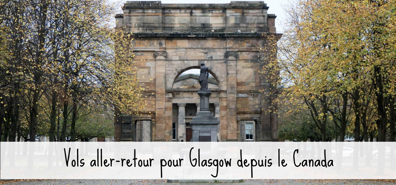 Vols aller-retour pour Glasgow depuis le Canada