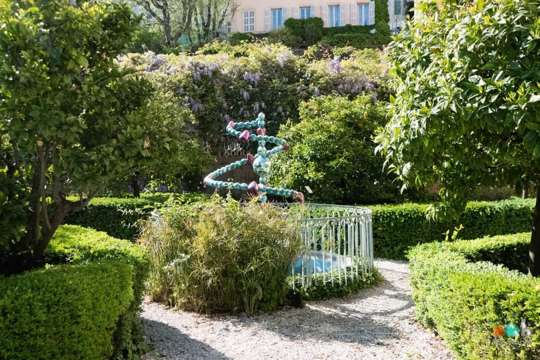 Le jardin du musée du parfum à Grasse