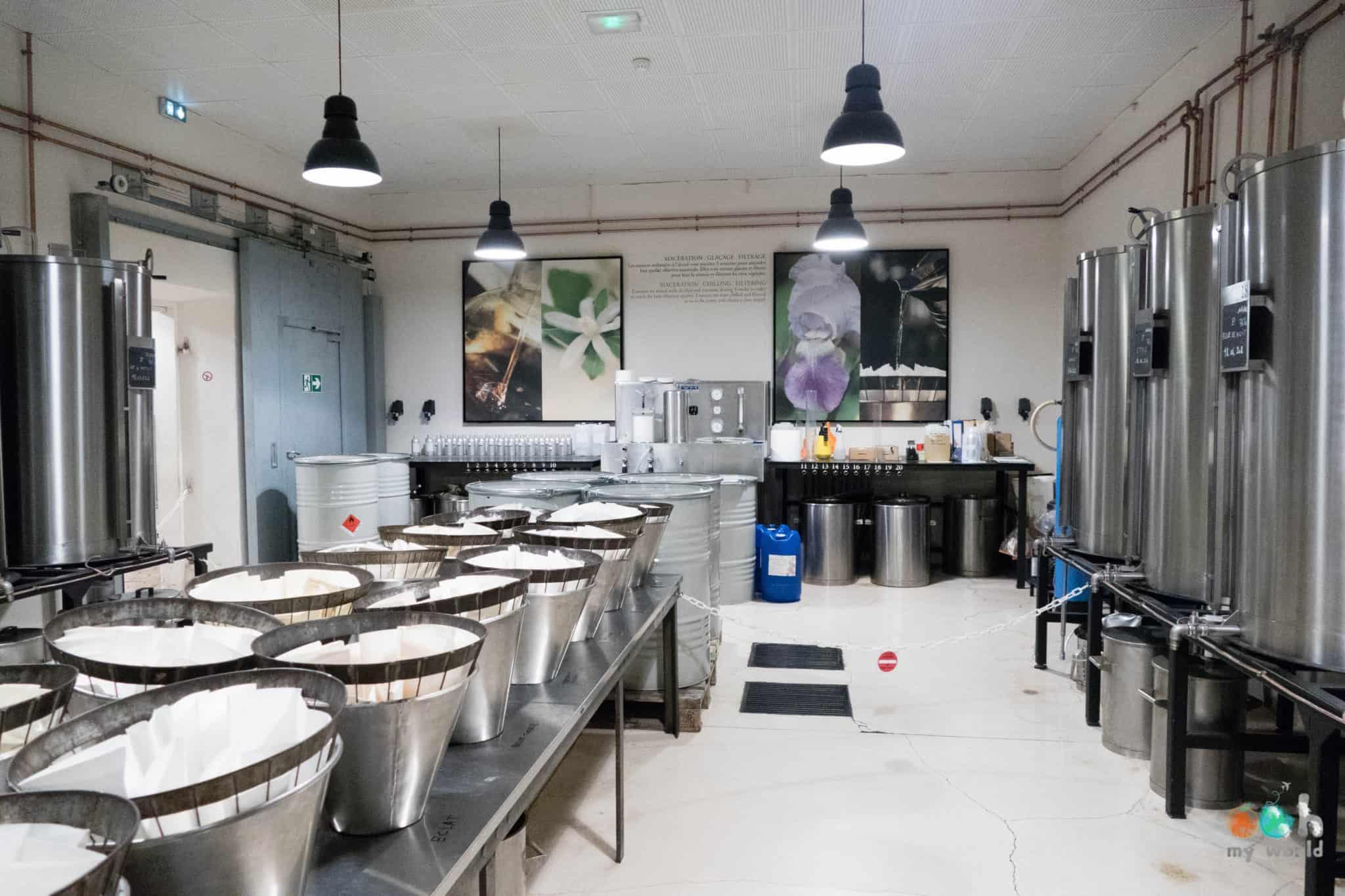 Atelier des essences de Fragonard à Grasse
