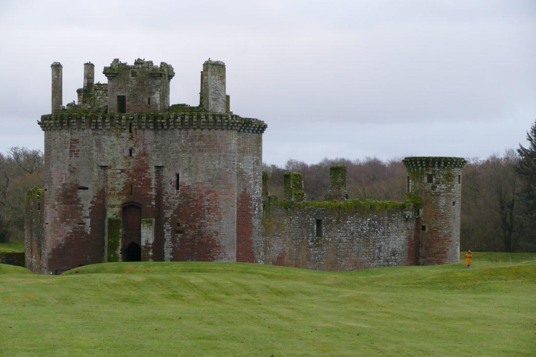 Château de Caerlaverock dans la région de Dumfries