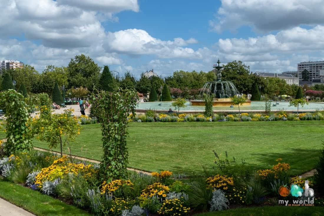 Le jardin du Mail et sa fontaine, un must pendant une visite d'Angers