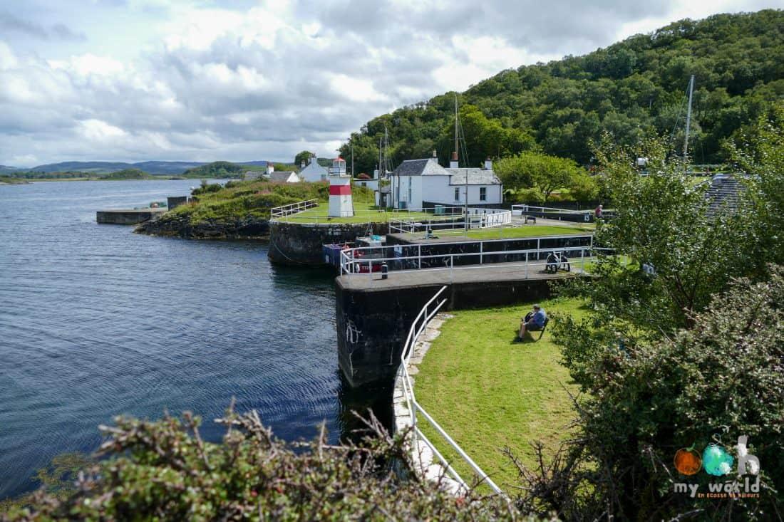 Port de Crinan dans la région d'Argyll and Bute
